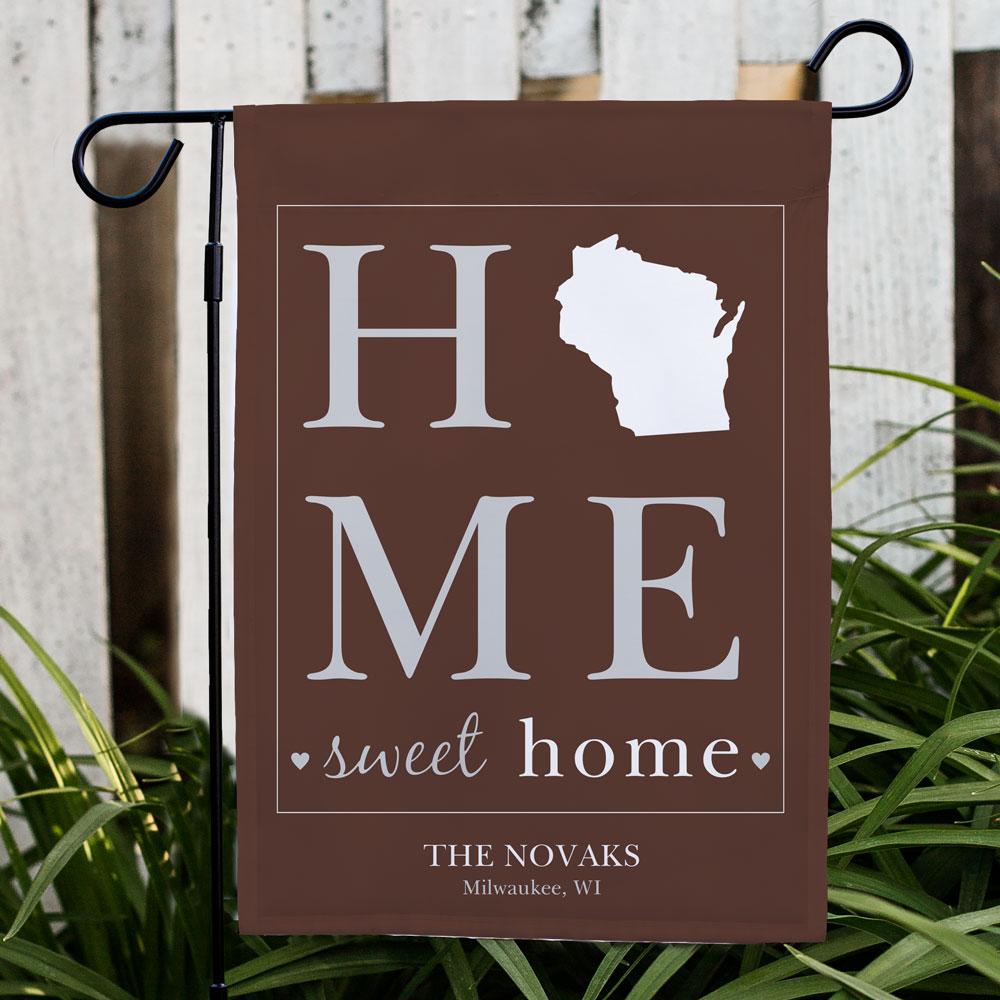 Personalized Home Sweet Home Welcome Garden Flag | Best Housewarming Gifts