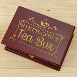 Engraved Rosewood Tea Box | Grandma Gifts