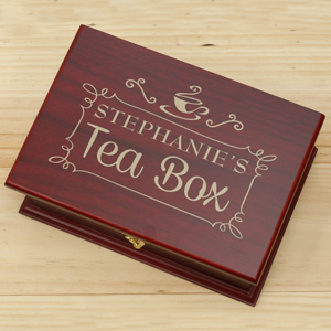 Engraved Rosewood Tea Box 631101514