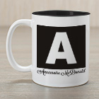 Personalized Initial and Name Mug 262310X