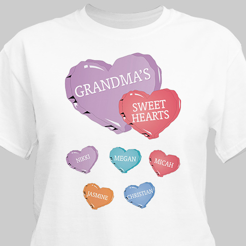 Candy Hearts Personalized T-Shirt