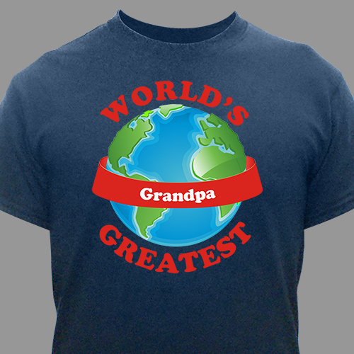 Personalized World's Greatest T-Shirt | Grandpa Shirt