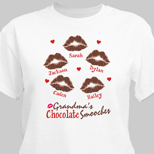 Personalized Chocolate Smooches T-Shirt 3532X