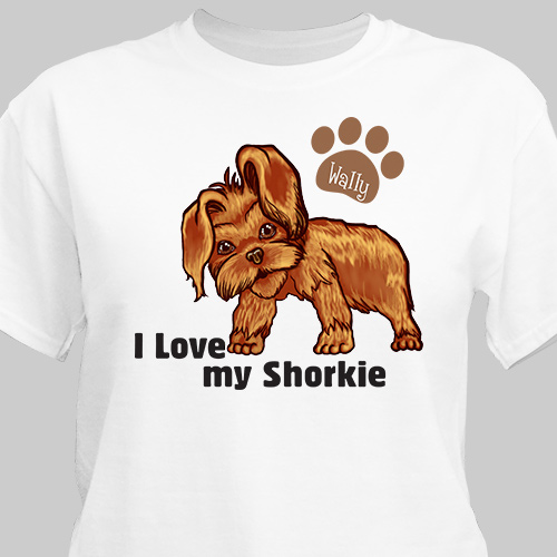 Personalized I Love My Shorkie T-Shirt 37070SHX