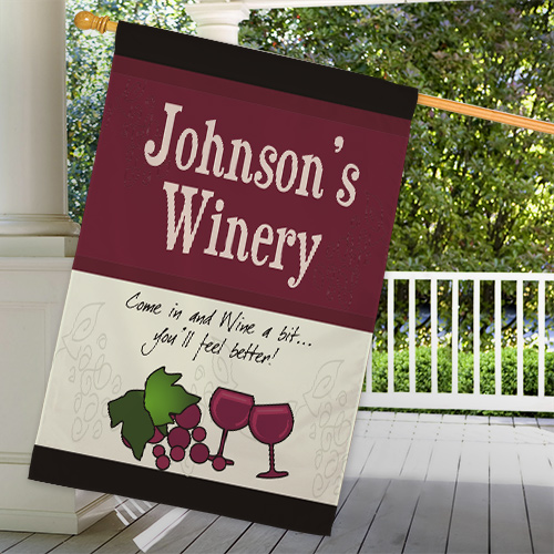 Personalized Winery House Flag 83020712L