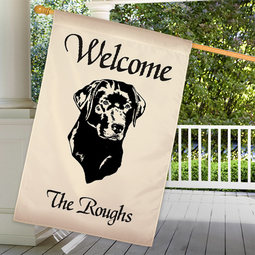 Personalized Dog Breed Welcome House Flag 83025422L