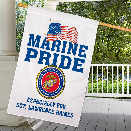 Personalized Military Pride House Flag 83036732L