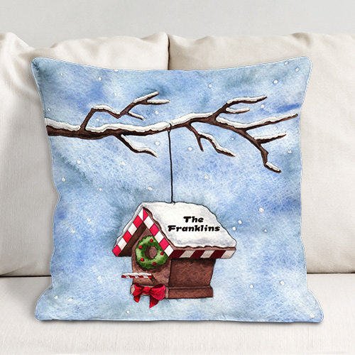 Personalized Christmas Throw Pillow 83055633