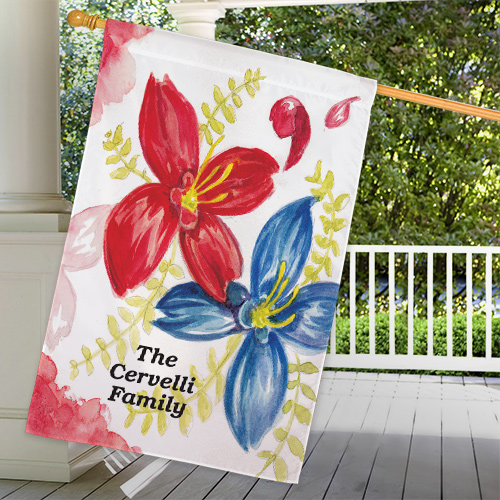 Personalized Welcome House Flag 83055732L
