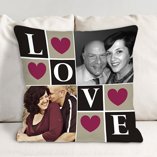 Love Photo Collage Throw Pillow 83070233