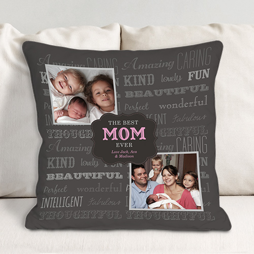 Personalized Best Mom Photo Throw Pillow | Mom Pillow