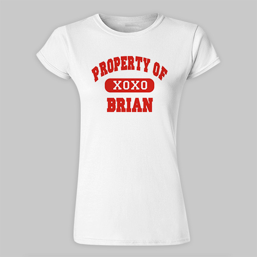 Personalized Property of My Valentine Ladies Fitted T-Shirt B32116X