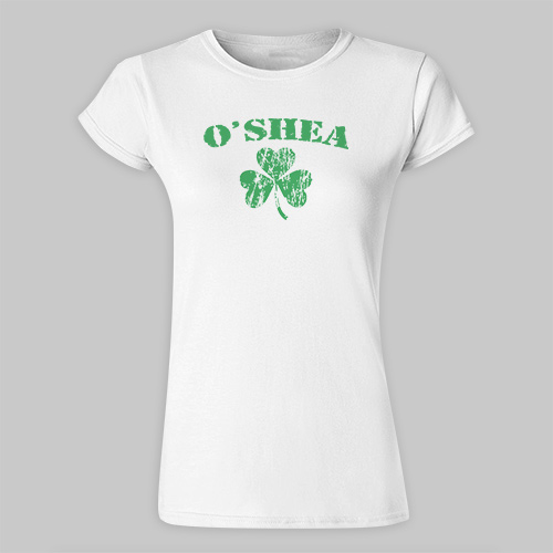 Personalized Irish Shamrock Ladies Fitted T-Shirt B33954x
