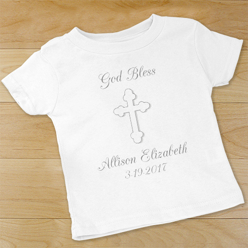 God Bless... Personalized Christening Infant Creeper