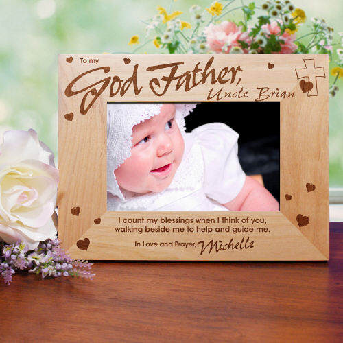 To My Godparent Wood Picture Frame