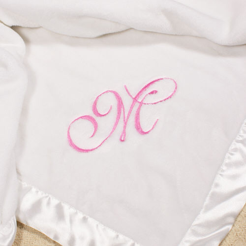 Name or Initial Embroidered Baby Fleece Blanket E363432