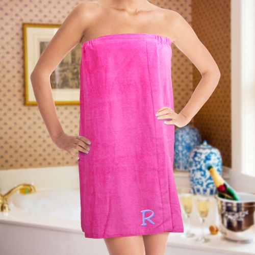 Embroidered Initial Spa Wrap E7633129X