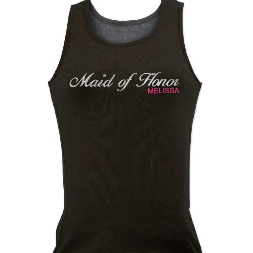 Embroidered Bridal Party Tank Top E7664125X