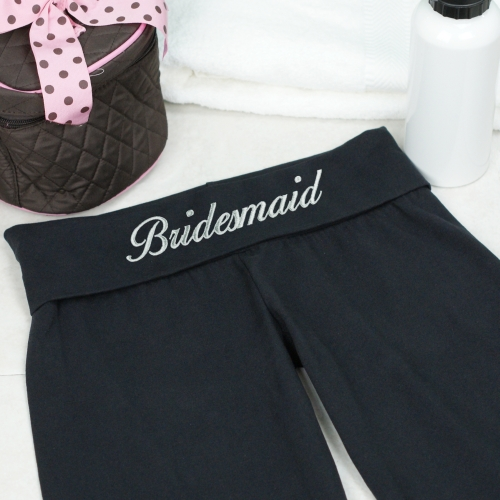 Embroidered Bridal Party Yoga Pant E7687124X