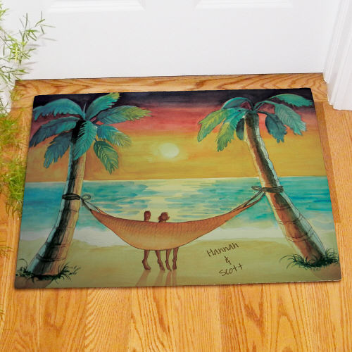 Personalized Beach Sunset Welcome Doormat 83152847