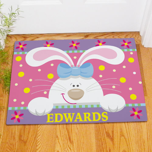Personalized Easter Bunny Welcome Doormat 83155447X