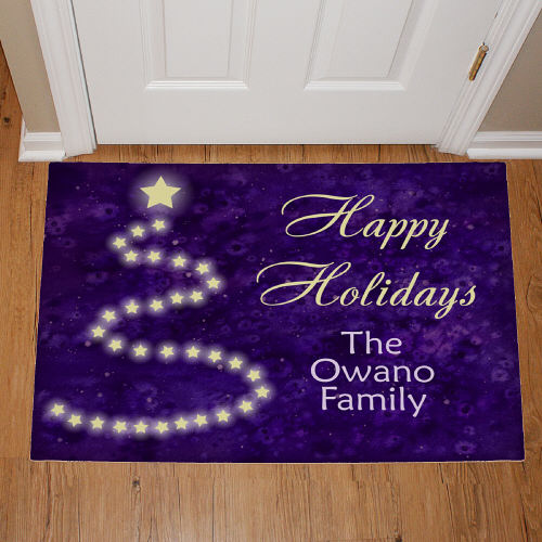 Personalized Happy Holidays Christmas Doormat 83160417x