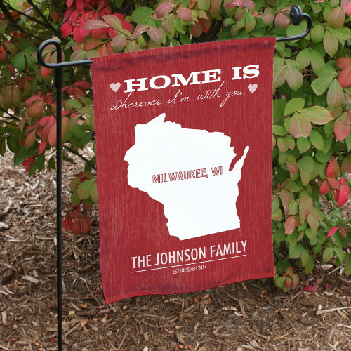 Personalized Home State Garden Flag 83074722