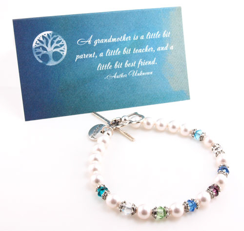 Grandma Birthstone Beaded Bracelet | Personalizable Jewelry