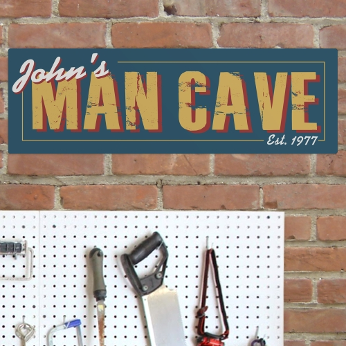 Personalized Man Cave Steet Sign | Mancave Gifts