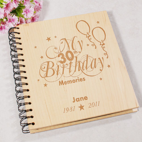 Engraved 30th Birthday Memories Photo Album