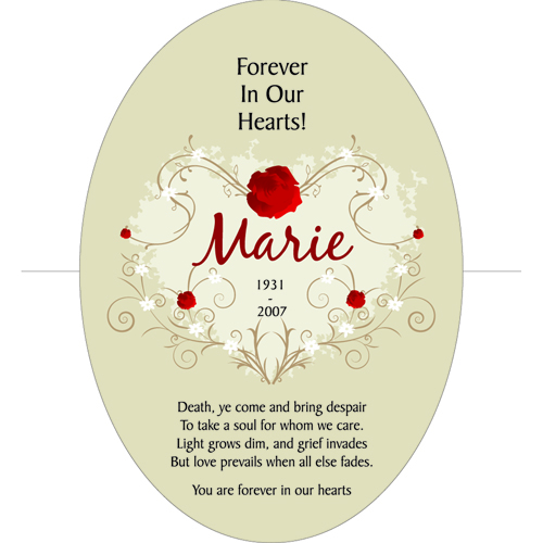 Forever In Our Hearts Keepsake Wall Cross Sympathy Gift