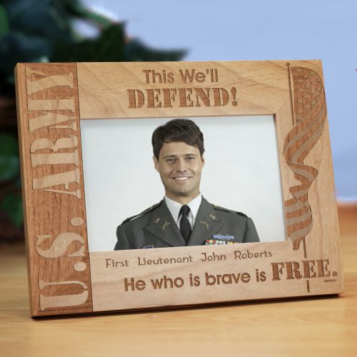 Personalized U.S. Army Wood Picture Frame