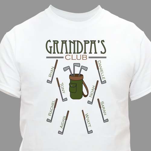 Personalized Golf Club T-Shirt | Gift for Grandpa