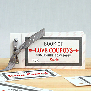 Personalized Love Coupon Book For Him