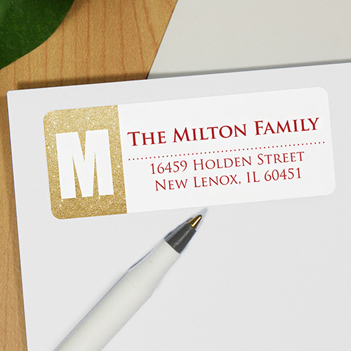 Holiday Shimmer Personalized Address Labels