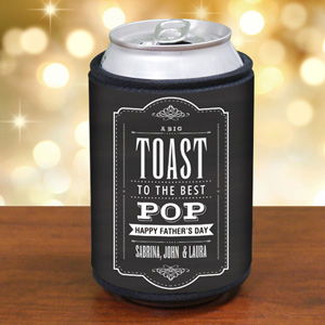 Personalized Toast to Dad Can Wrap