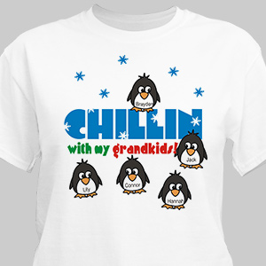 Chillin' Penguins Personalized Winter T-Shirt