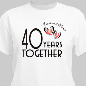 Years Together Personalized Anniversary T-shirt | Personalized T-shirts