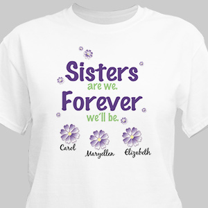 Sisters Forever Personalized T-shirt | Personalized T-shirts