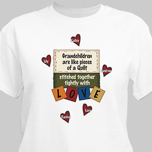Stitched Together Quilting Personalized Quilters T-Shirt