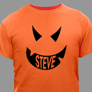 Pumpkin Face Halloween T-Shirt | Personalized Halloween Shirts