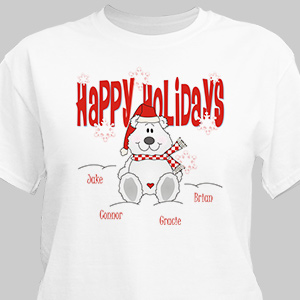 Happy Holidays Personalized T-Shirt | Personalized Christmas Shirt
