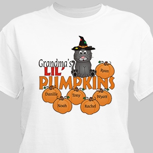 Personalized Lil Pumpkins Halloween T-Shirt | Personalized Halloween Shirts