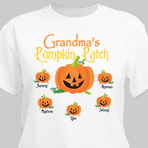 Pumpkin Patch Personalized Halloween Adult T-Shirt
