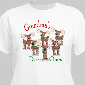 Deer Ones Personalized T-Shirt | Personalized Christmas Shirt