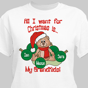 All I Want T-Shirt | Personalized Christmas Shirt