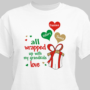 All Wrapped Up T-Shirt | Personalized Christmas Shirt