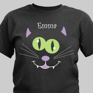 Personalized Black Cat Halloween T-Shirt