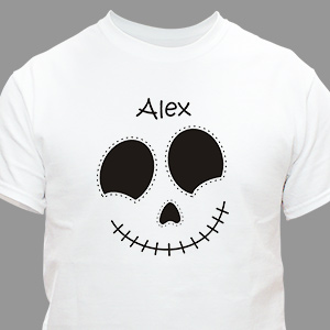 Personalized Halloween Skeleton T-Shirt