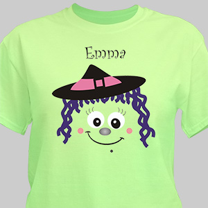 Personalized Halloween Witch T-Shirt